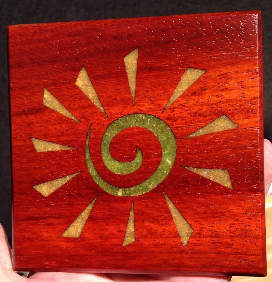 Here Comes The Sun Coaster - Veggie Style - Woodworking Project by Terry