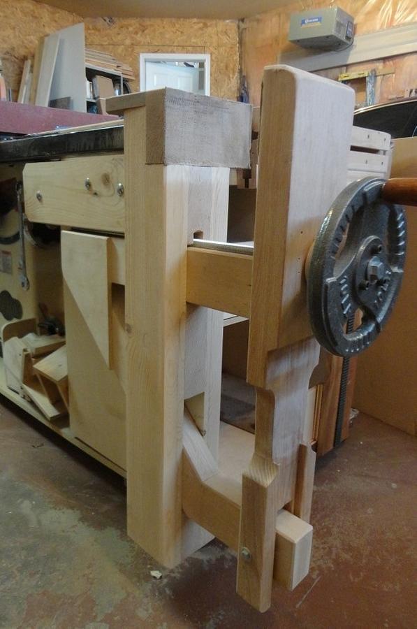 LEG VISE_KIEFER KNEE VISE  - Woodworking Project by kiefer