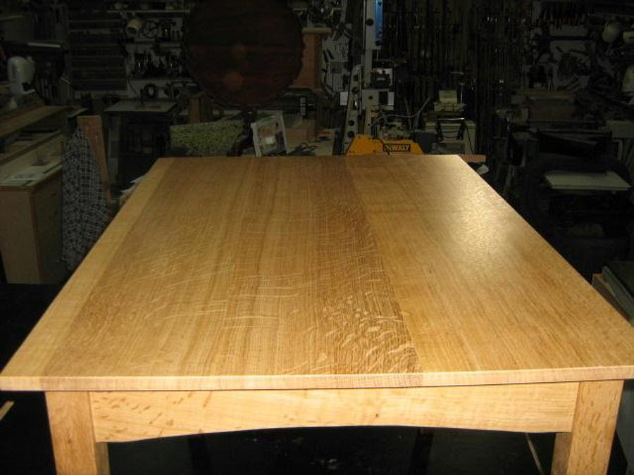 1/4 SAWN WHITE OAK TABLE - Woodworking Project by a1jim