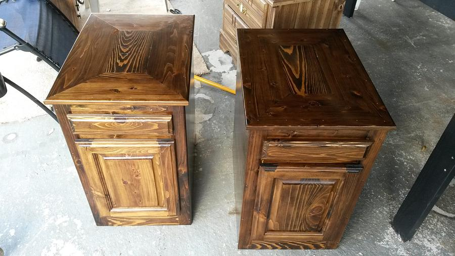 #2 Cypress Night stands - Woodworking Project by JrsWoodWorx