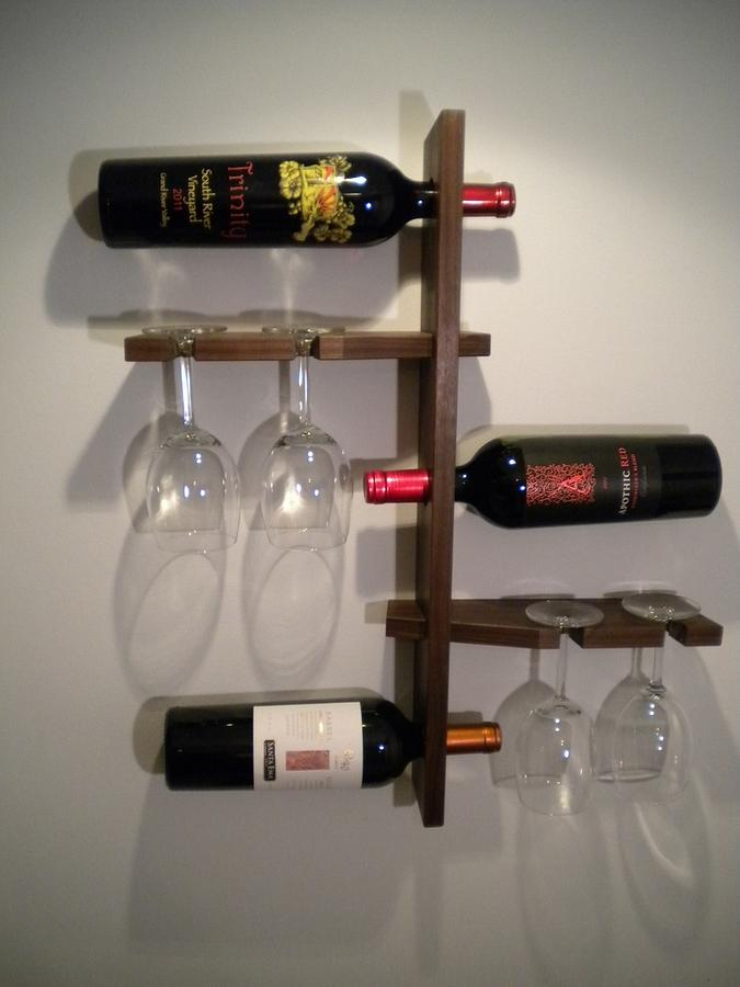 Floating Wine Rack - Woodworking Project by Peepaw