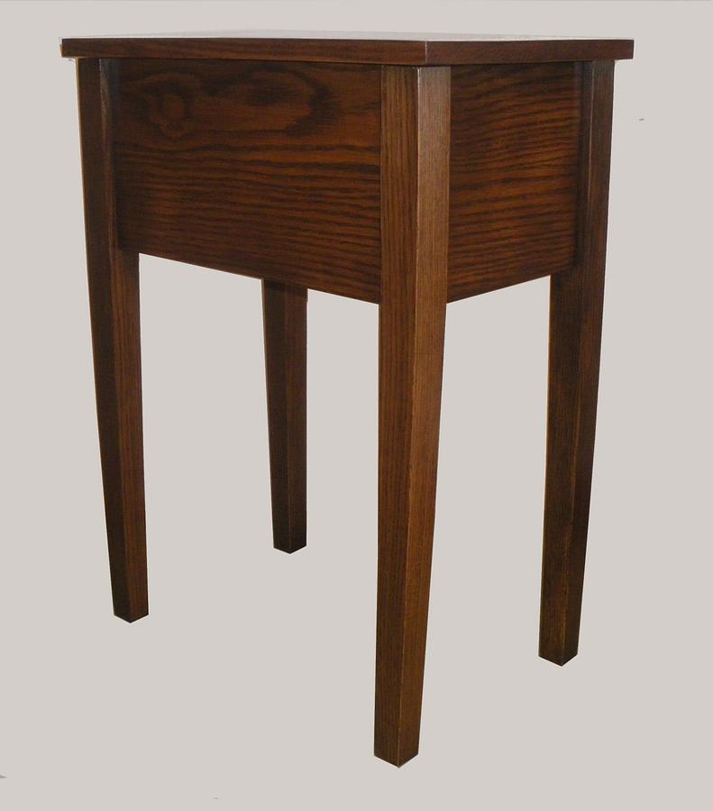 Nightstand for Dad (101) - Woodworking Project by Lightweightladylefty