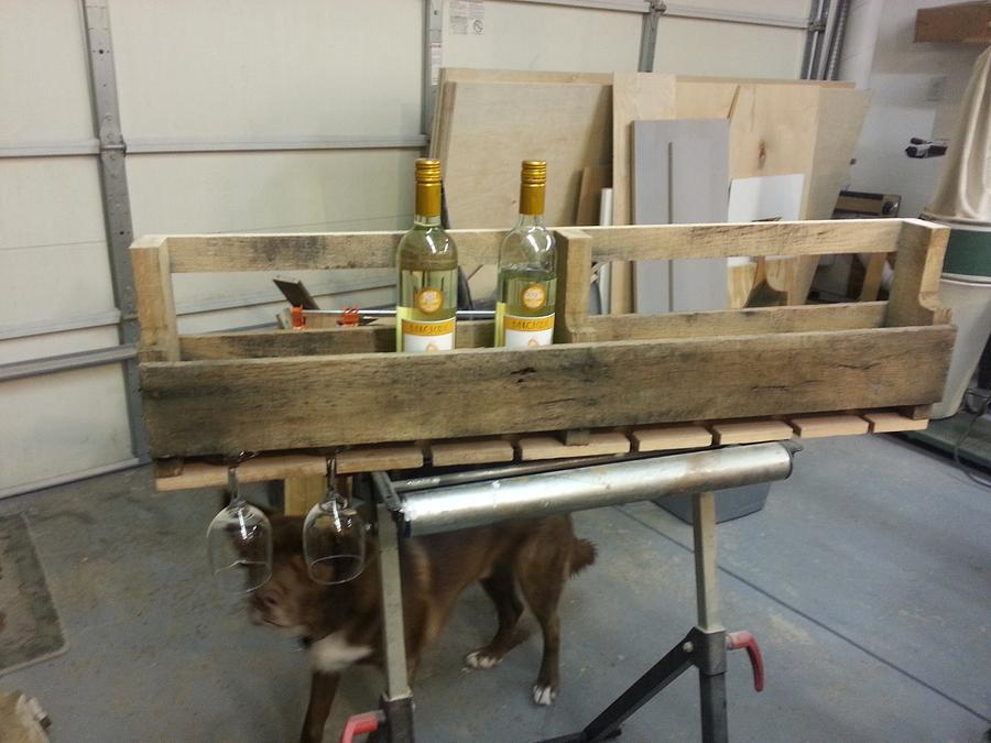 Wine Bottle and Glass Display  - Woodworking Project by Jeff Vandenberg