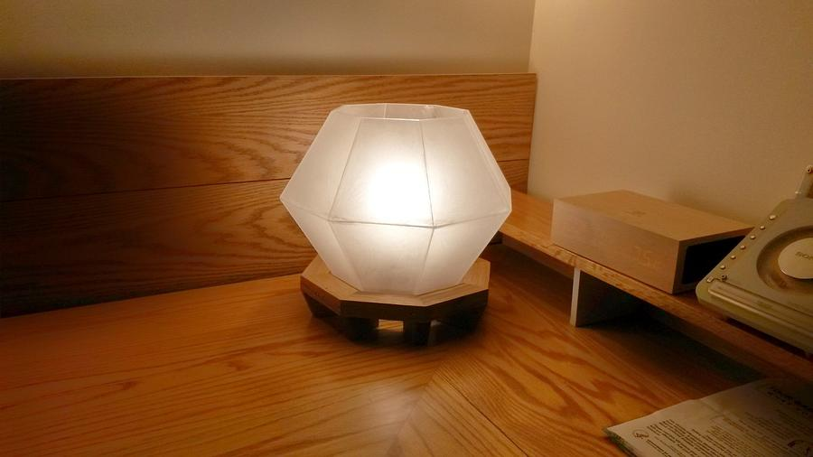 Pallet wood and acrylic table lamp - Woodworking Project by Brian