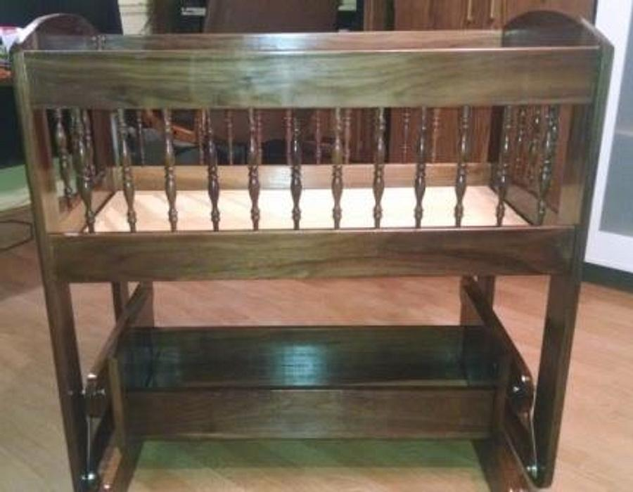 Cradle # 4 Walnut Gliding cradle - Woodworking Project by Papa Time