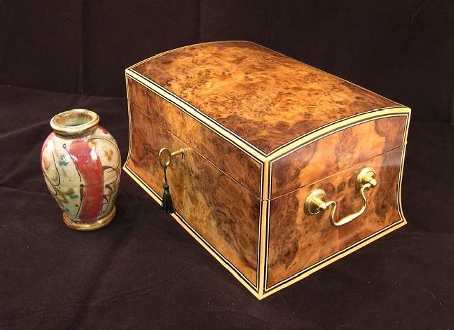 Walnut Burl Jewelry Box - Woodworking Project by RogerBean