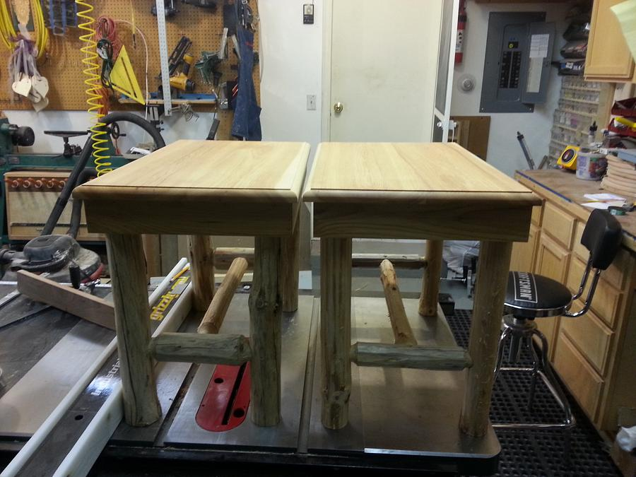 Log Tables with Hickory Tops - Woodworking Project by Jeff Vandenberg