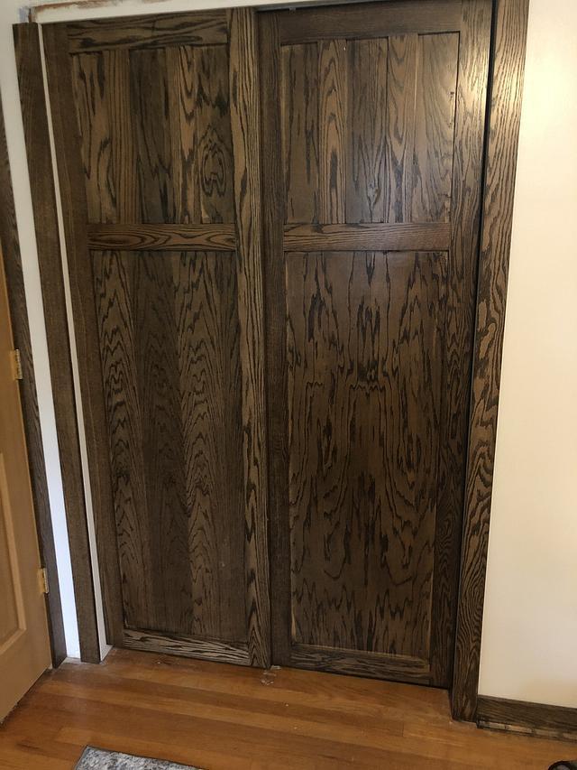 Oak closet sliding doors
