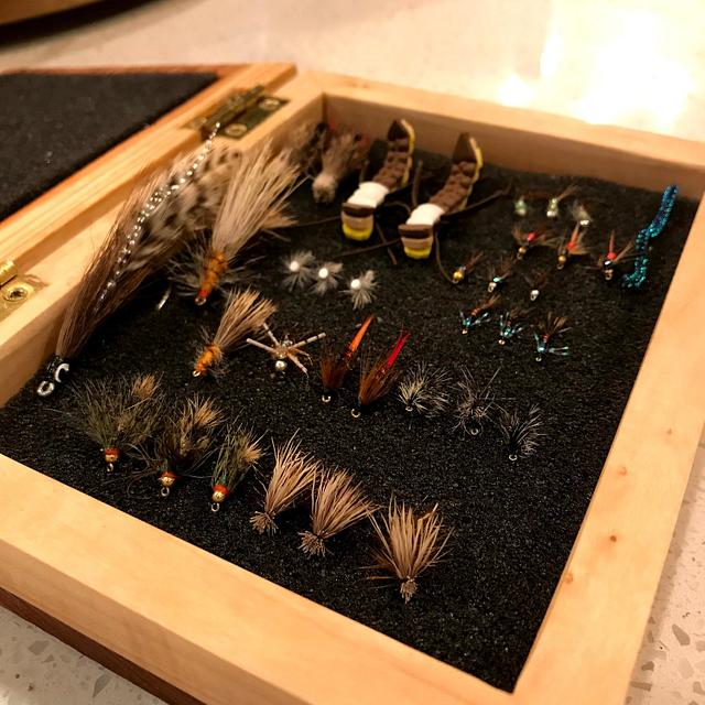 Redwood and maple fly box