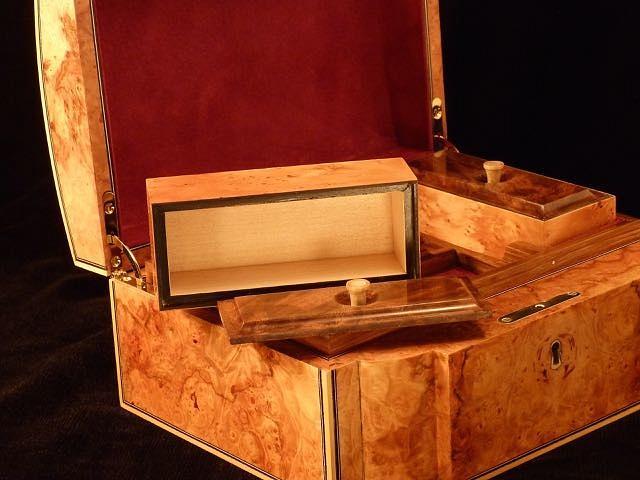 Maple Burl Jewelry Box