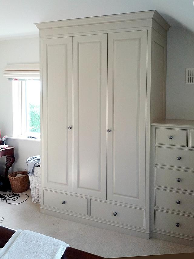 Classic, traditionally styled bedroom furniture.