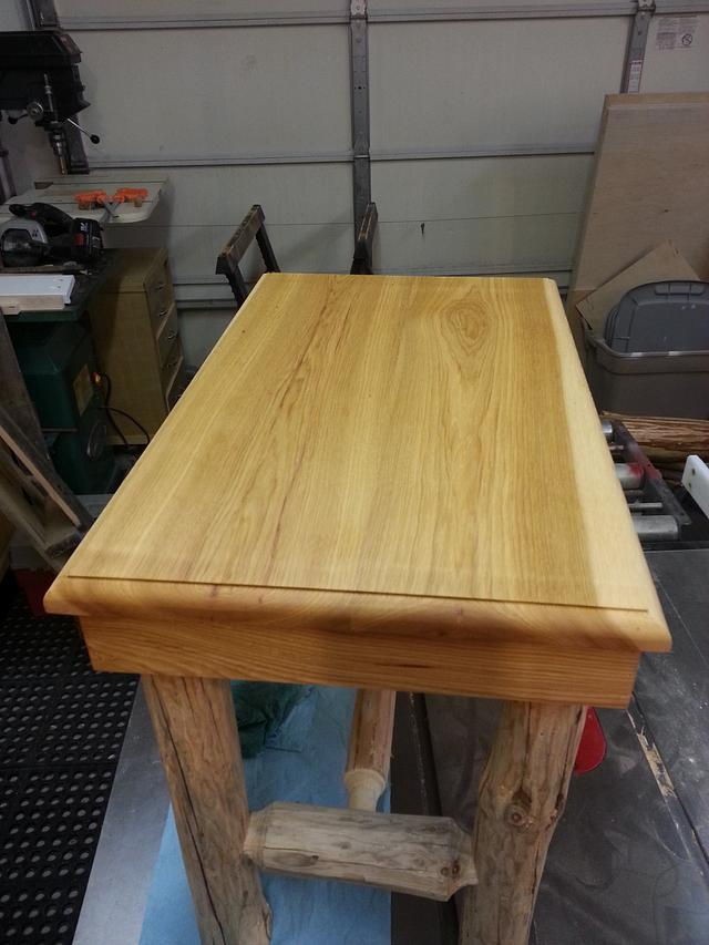 Log Tables with Hickory Tops