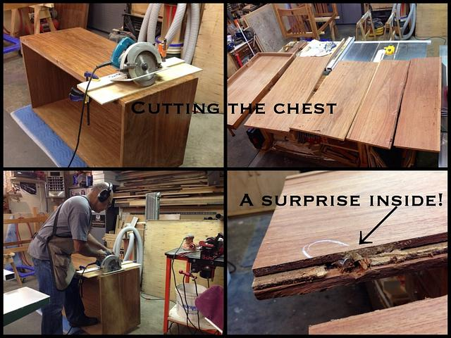 Turning a chest into a table