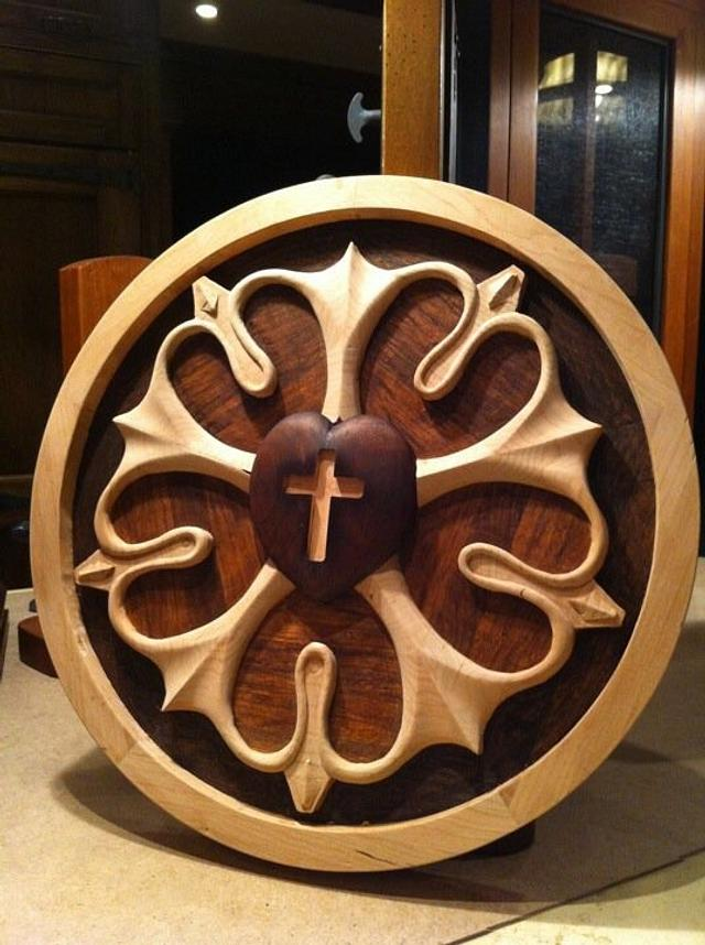 Carved Lutheran seal
