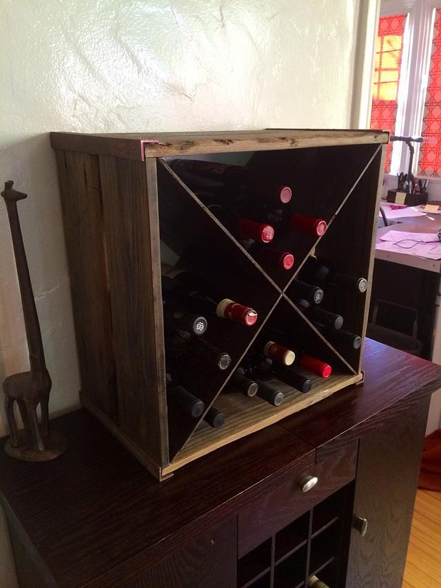 Rustic wine box