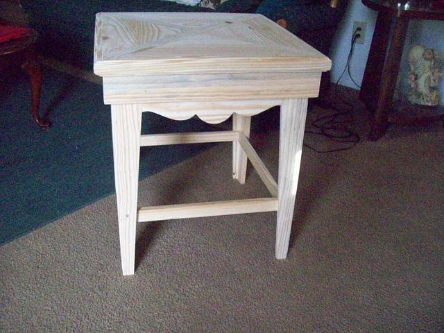 pallet wood end table