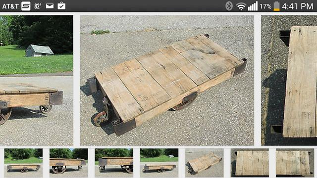 Factory Cart Coffee Table Hope Chest