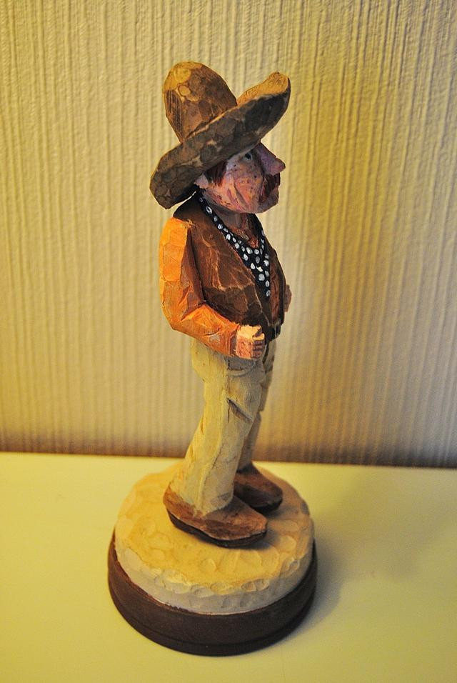 Four In One Cowboy Carving
