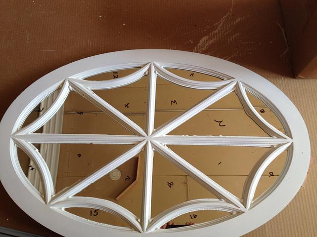 Oval Spider Web Window