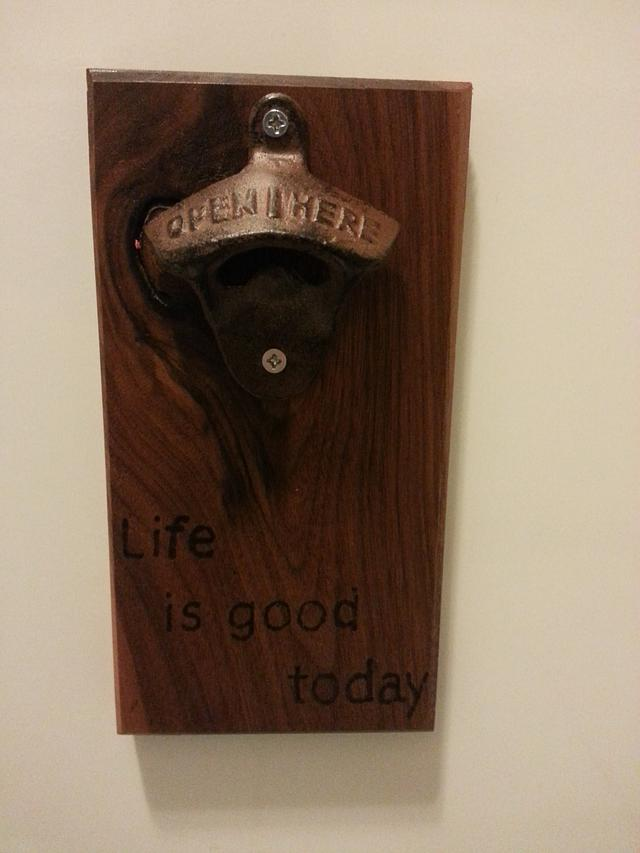 Magnetic Bottle Opener - Woodworking Project by David E.