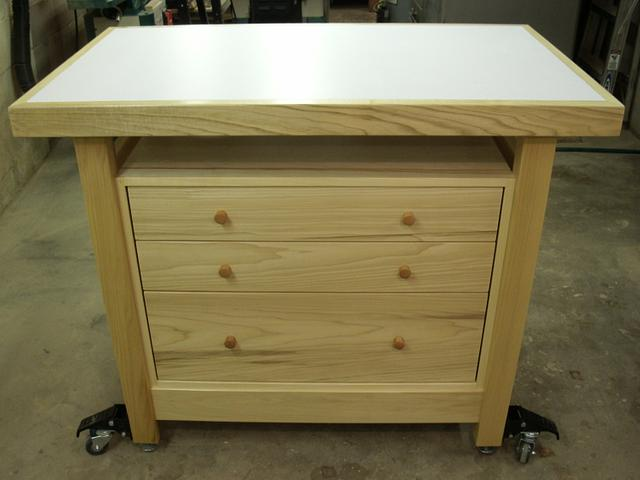 Outfeed Table/Workbench With Storage