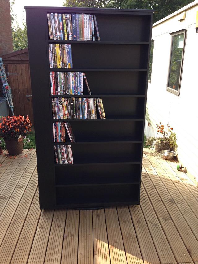 Massive rotating DVD stand