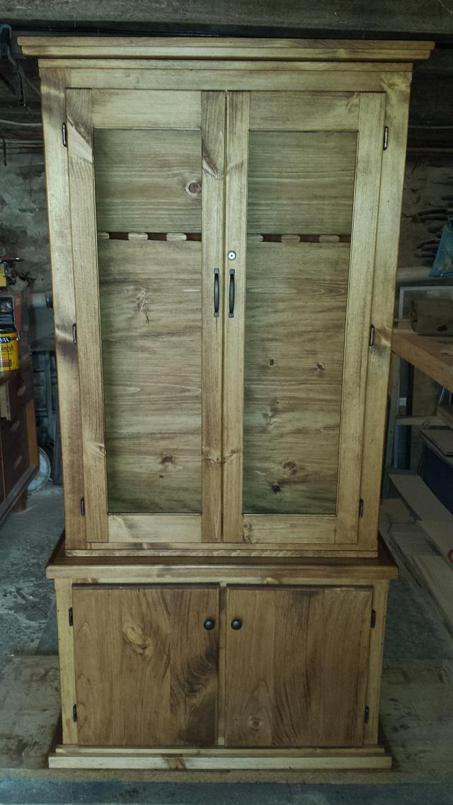 Gun cabinet with a secret - Woodworking Project by Nate Ramey