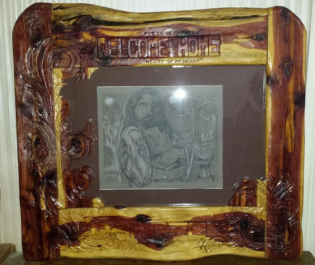 custom frame and drawing