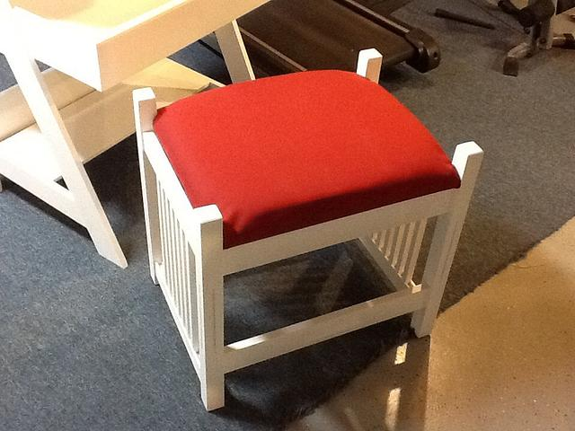 Small desk with bench seat