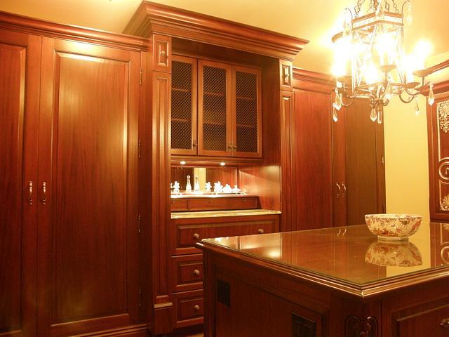 Custom Mahogany Dressing Room