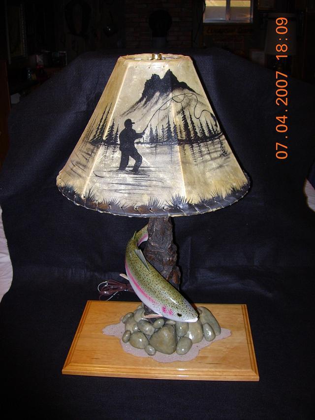 Rainbow Trout Desk Lamp