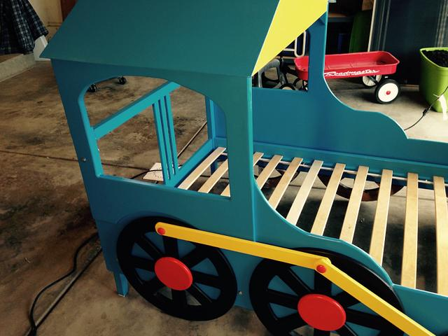 Train Bed for Grandson