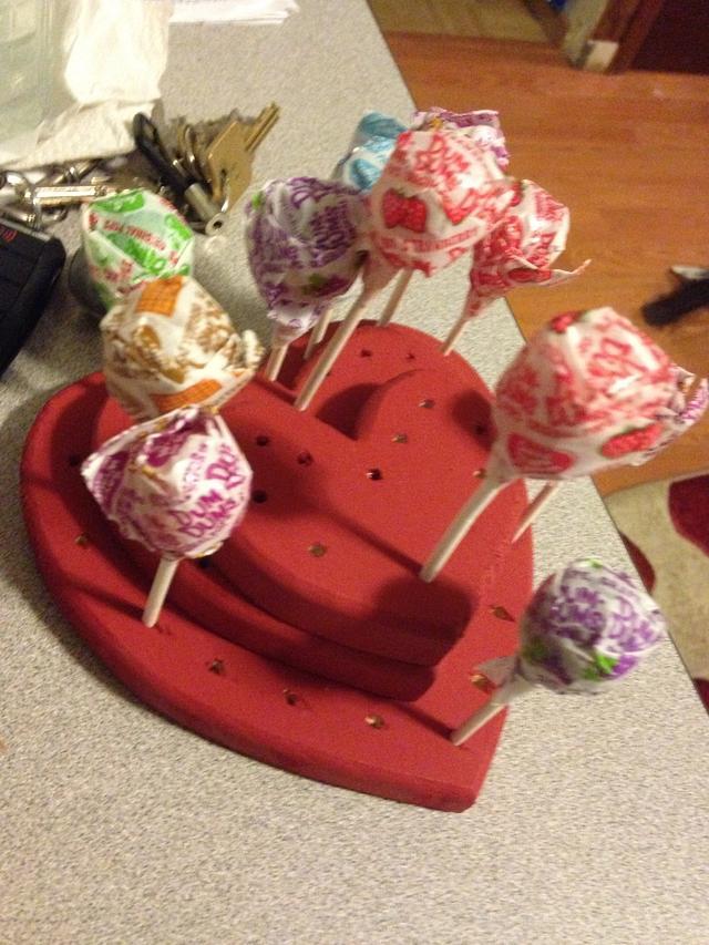 Heart pop holder