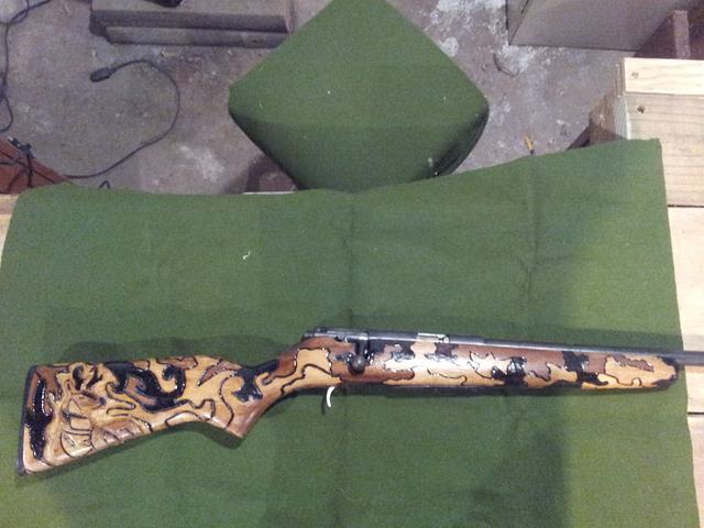 gun carvings