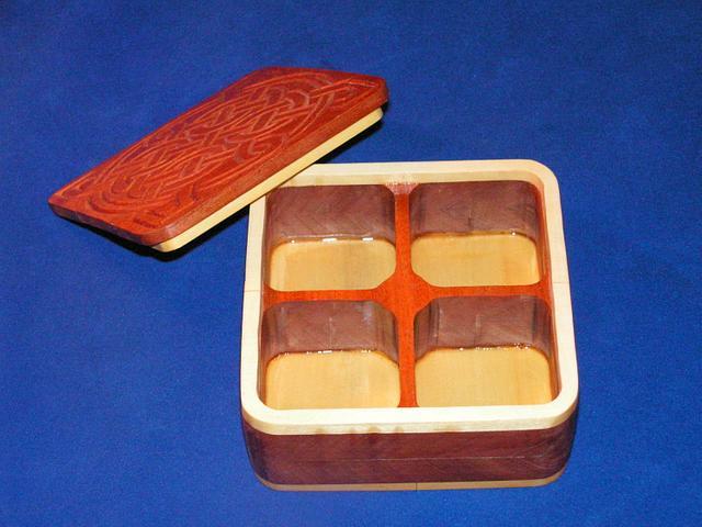 Chip Carved Celtic Box