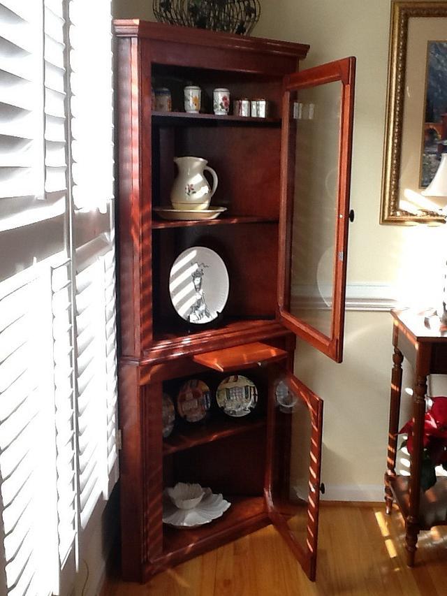 Corner cabinet from cherry