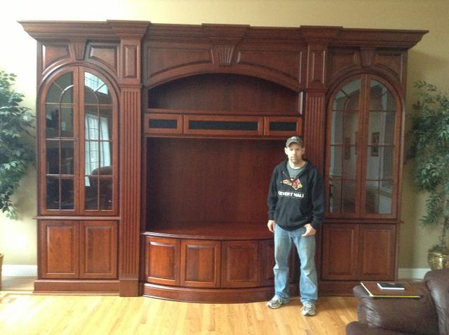 Custom Cherry Entertainment Cabinetry - Woodworking Project by Steve66