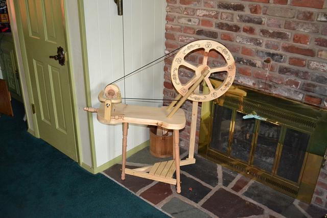 rustic spinning wheel