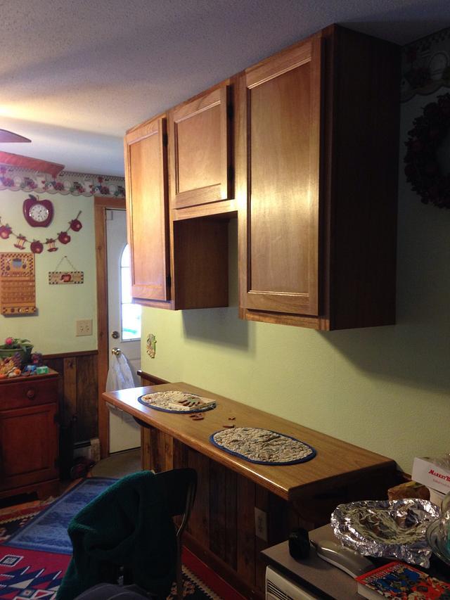 Breakfast nook & cabinets
