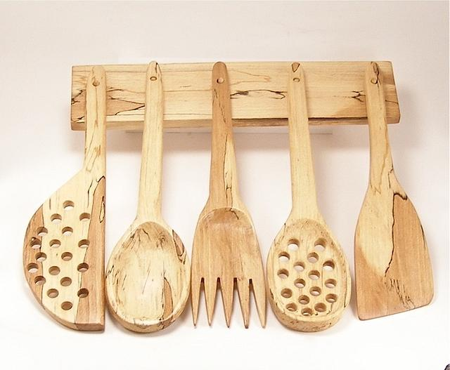 Carved Kitchen Utensils - Woodworking Project by BarbS