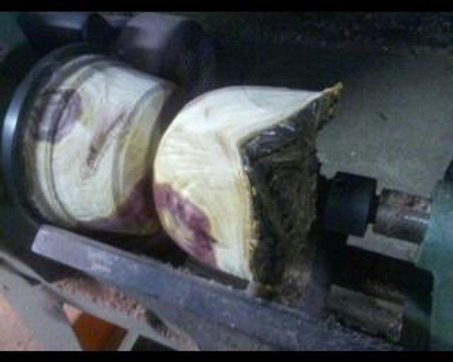natural rim cedar vessel