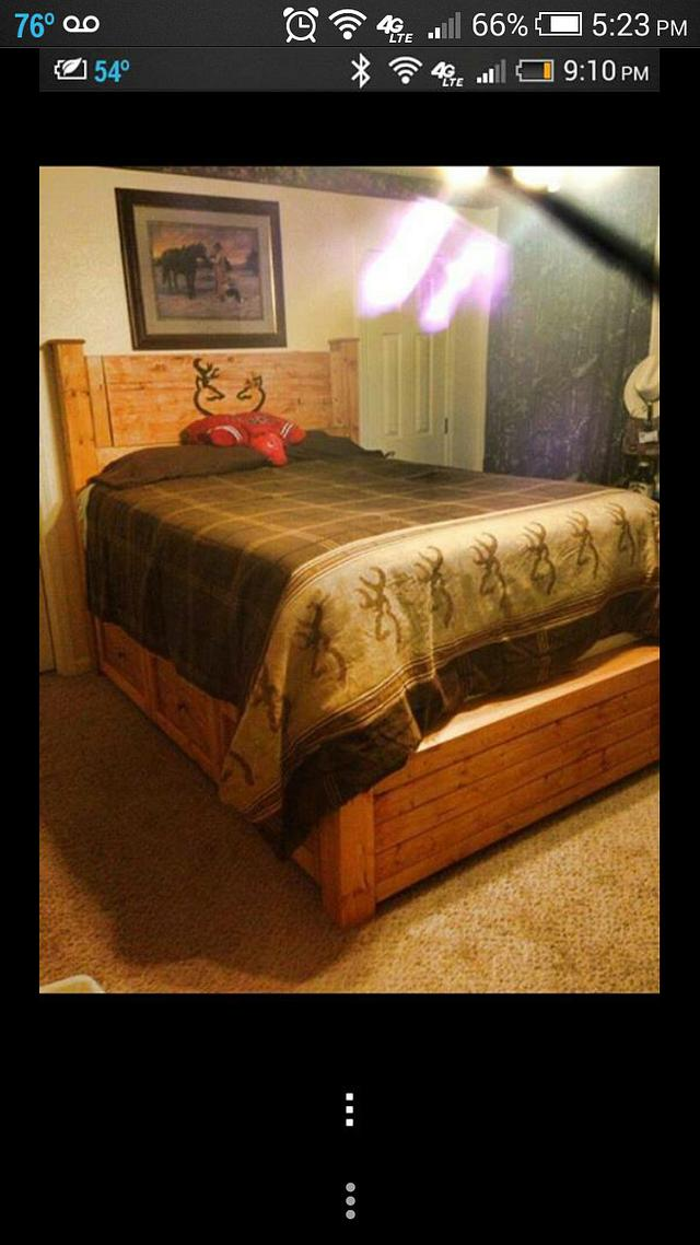 browning deer bed - Woodworking Project by castinandblastin83
