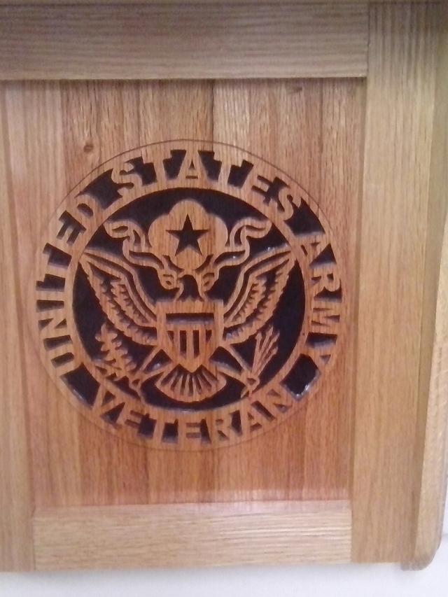 United States Army Veteran wall shelf