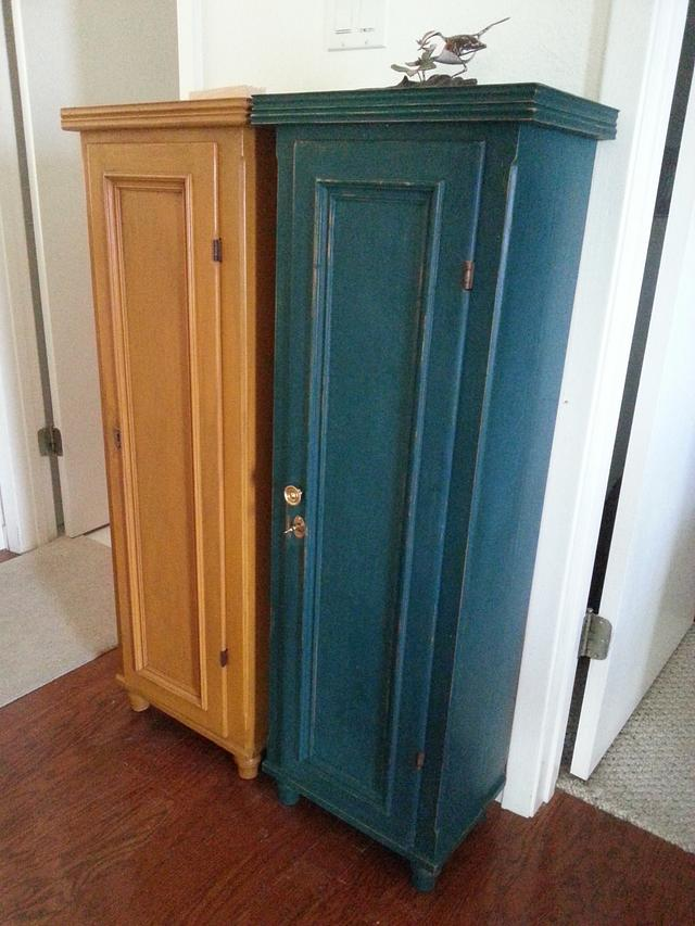 Milk Painted Narrow Amish Cabinets - Woodworking Project by HorizontalMike