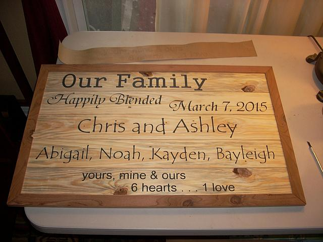 Coming Together:  Shadow Boxes, Cross, Stenciled Sign