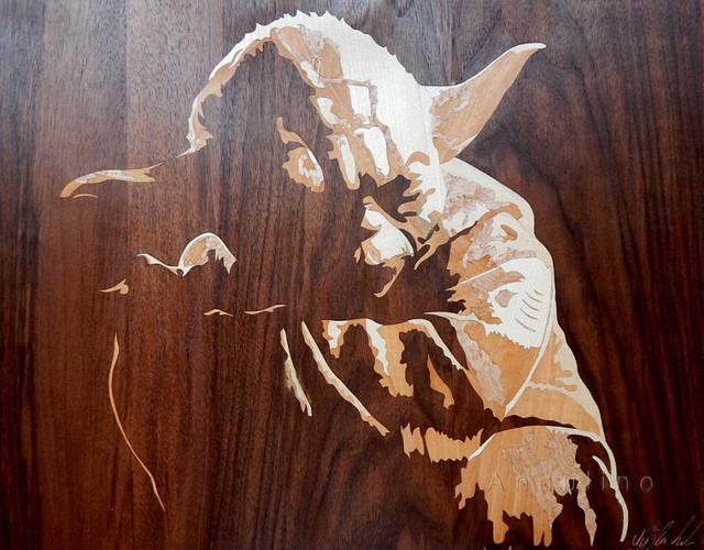 Yoda marquetry