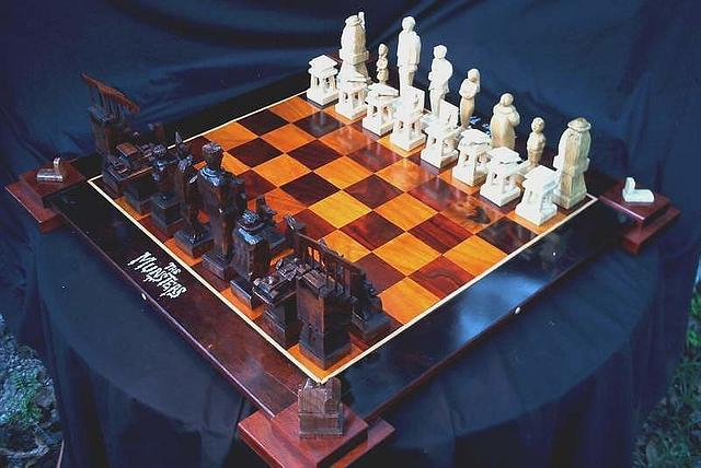 Addams Family versus The Munsters Chess Set by Jim Arnold - Woodworking Project by JimArnold