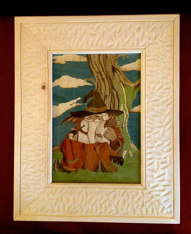 A frame for my Wizard Marquetry