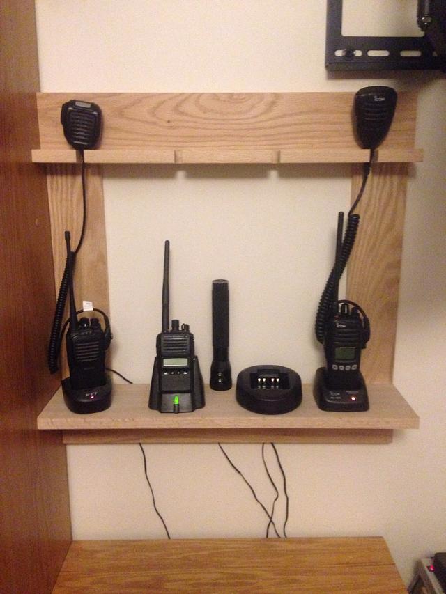 Portable Radio Charging Shelf
