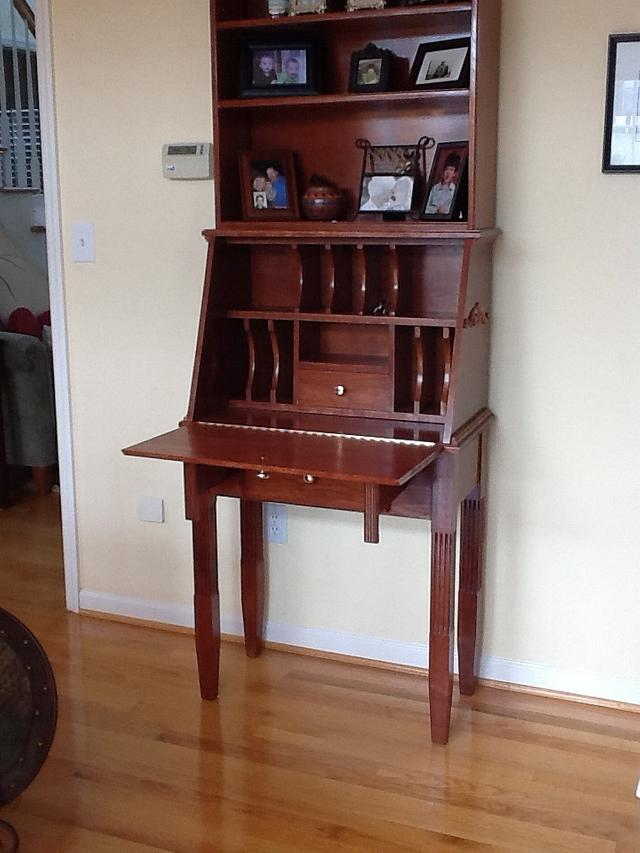 Cherry love seat, cherry and oak desk,cherry desk and chair, chair,and secretary
